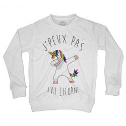 Sweat Shirt Enfant J'Peux Pas J'Ai Licorne Humour Dessin Licorne Qui Dab