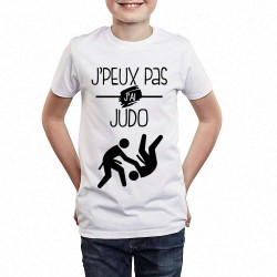 T-shirt Je peux pas j'ai Judo - Cadeau enfant