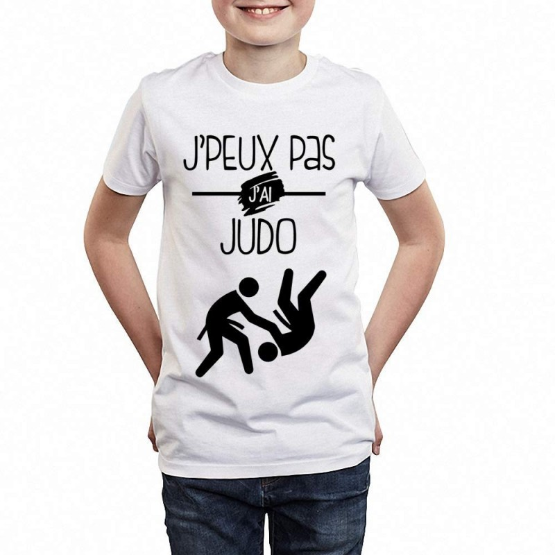 t shirt je peux pas j 39 ai judo cadeau enfant enfant 3 4 ans. Black Bedroom Furniture Sets. Home Design Ideas