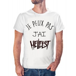 t-shirt je peux pas j'ai hellfest - cadeau homme