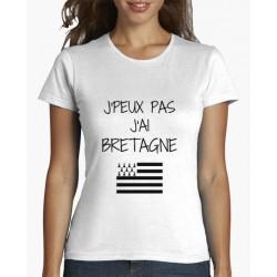 T-Shirt je peux pas j'ai bretagne - Femme