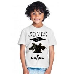 T-shirt je peux pas j'ai Cs GO - Cadeau enfant fille et garçon
