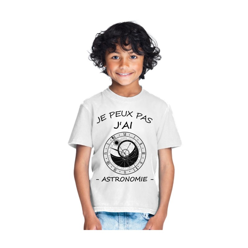 T-shirt je peux pas j'ai astronomie - Cadeau enfant fille et garçon