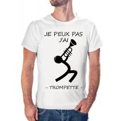 t-shirt je peux pas j'ai trompette - cadeau musicien homme