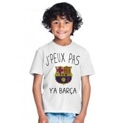 T-shirt je peux pas y'a barça - Cadeau enfant fille et garçon