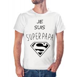 t-shirt je peux je suis Super PAPA - cadeau homme