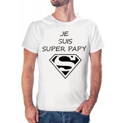 t-shirt je peux je suis Super Papy - cadeau homme