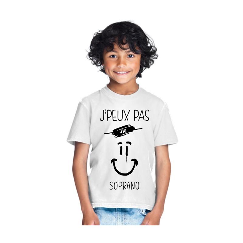 T-shirt je peux pas j'ai soprano - Cadeau enfant fille et garçon