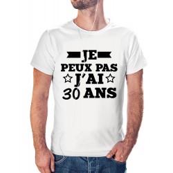t-shirt je peux pas j'ai 30 ans - cadeau anniversaire homme