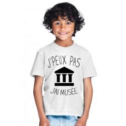 T-shirt je peux pas j'ai musée - Cadeau enfant fille et garçon