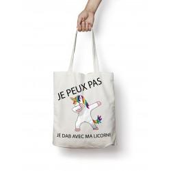 Sac Je peux pas Je DAB avec ma licorne - Tote bag