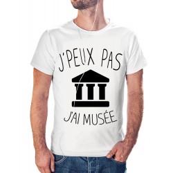 t-shirt je peux pas j'ai musée - cadeau homme