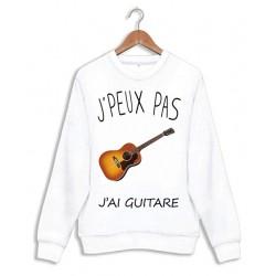 Sweat J'peux pas j'ai guitare - Pull