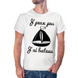 t-shirt je peux pas j'ai bateau - cadeau homme