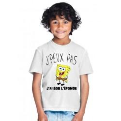 T-shirt je peux pas j'ai bob l'éponge - Cadeau enfant fille et garçon
