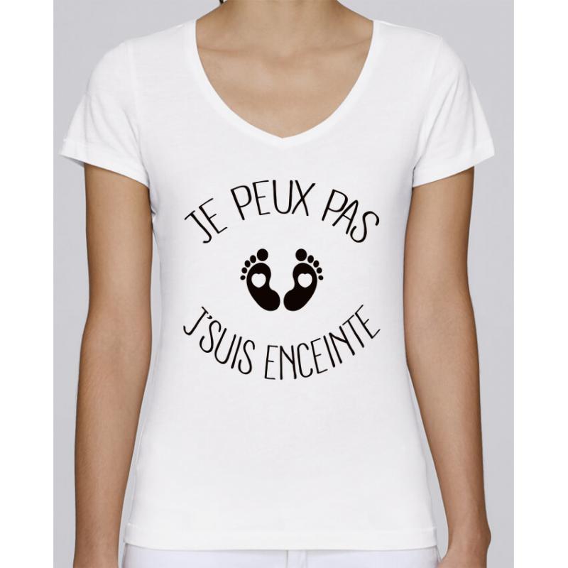 Femme Jpeux Pas Je Suis Enceinte Grossesse Future Maman Cadeau T-Shirt