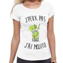 T-Shirt Je peux pas j'ai Mojito