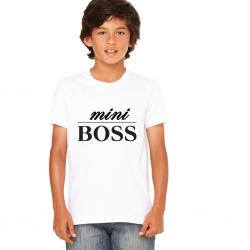 T-shirt mini boss  - Cadeau enfant fille et garçon