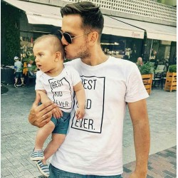 T-shirt Best Dad Ever Homme - Best Kid Ever Enfant Ensemble père et enfant