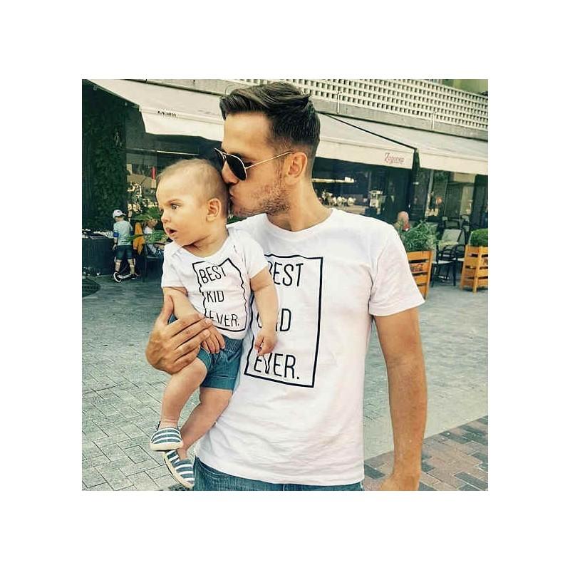 T-shirt Best Dad Ever Homme - Best Kid Ever Enfant Ensemble père et enfant