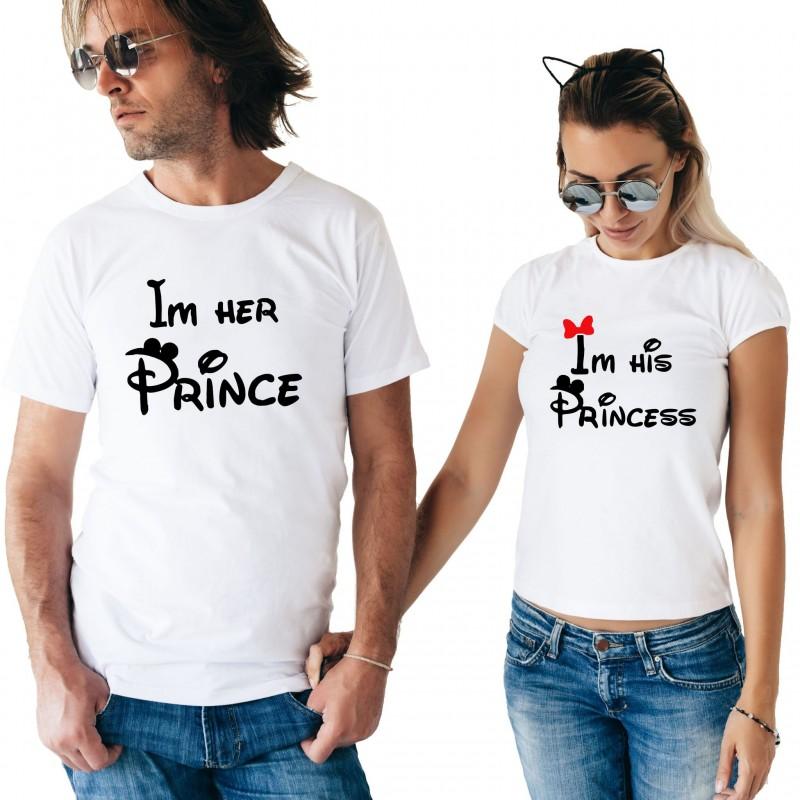 T-Shirt Prince et princess - Coffret Couple