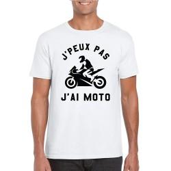 T-Shirt Je peux pas j'ai moto