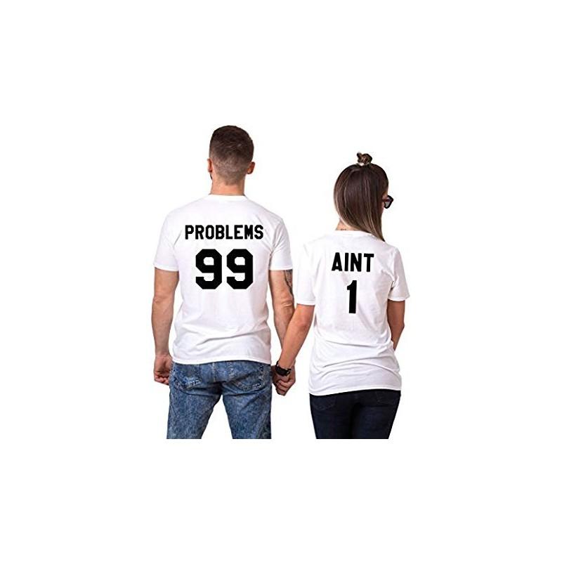 T-Shirt 99 problems homme et 1 pour femme - Coffret Couple