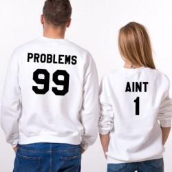 Sweat 99 problems homme et 1 pour femme - Coffret Couple pulls