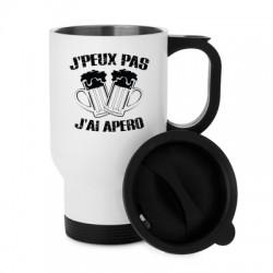 Tasse isotherme Je peux pas j'ai Apero - Mug Aluminium