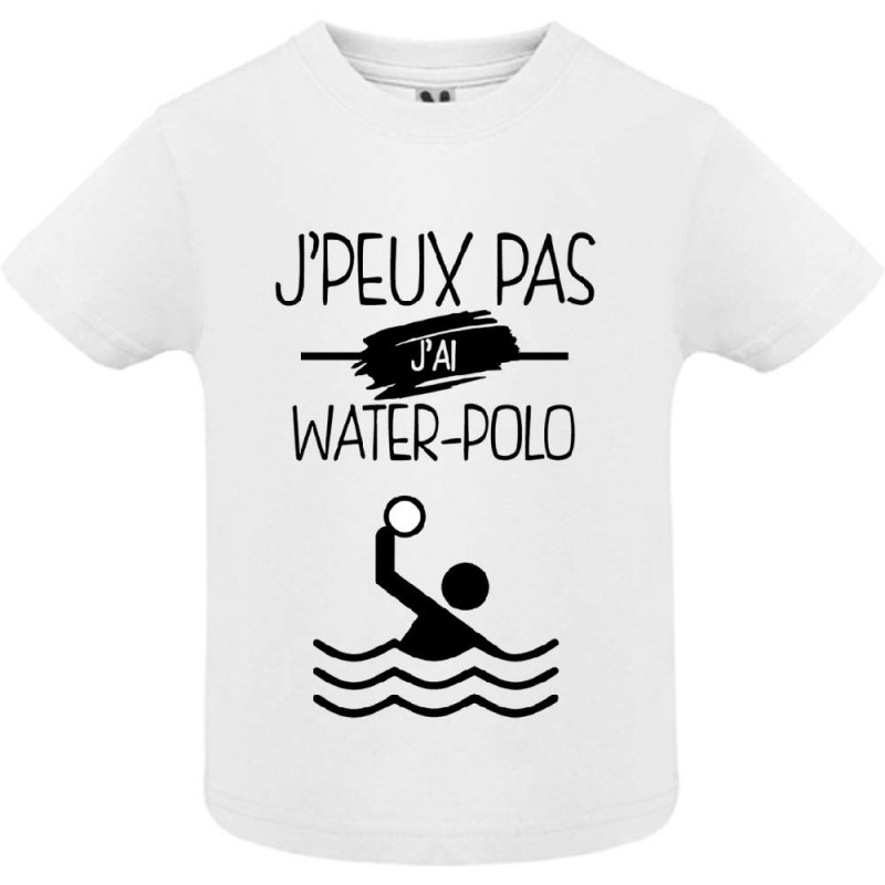 T-shirt Je peux pas j'ai Water Polo - Cadeau enfant
