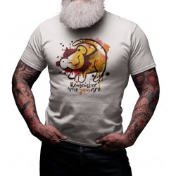 T-shirt Remember Who You are - cadeau homme rio lion simba