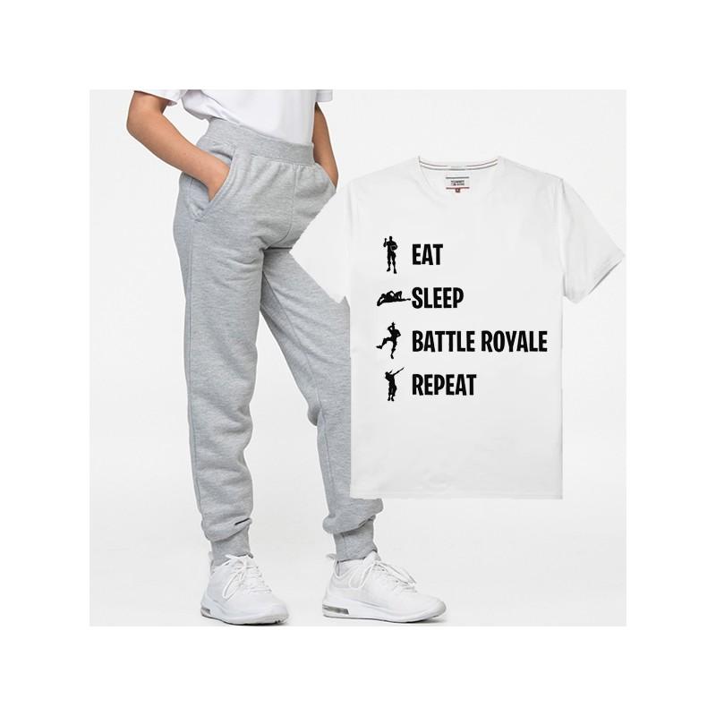 Pyjama Eat sleep battle royal repeat - Tenue complète