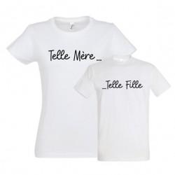 T-shirt Maman et tshirt enfant assorti telle mère telle fille