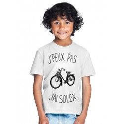 T-shirt Je peux pas j'ai Solex - Cadeau enfant fille et garçon