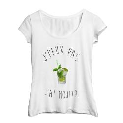 T-Shirt j'peux pas j'ai Mojito - Femme Cadeau Humour