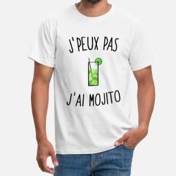 T-shirt j'peux pas j'ai mojito - cadeau Humour homme