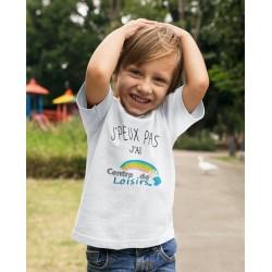 T-shirt Je peux pas j'ai centre aéré - Cadeau enfant fille et garçon centre de loisirs