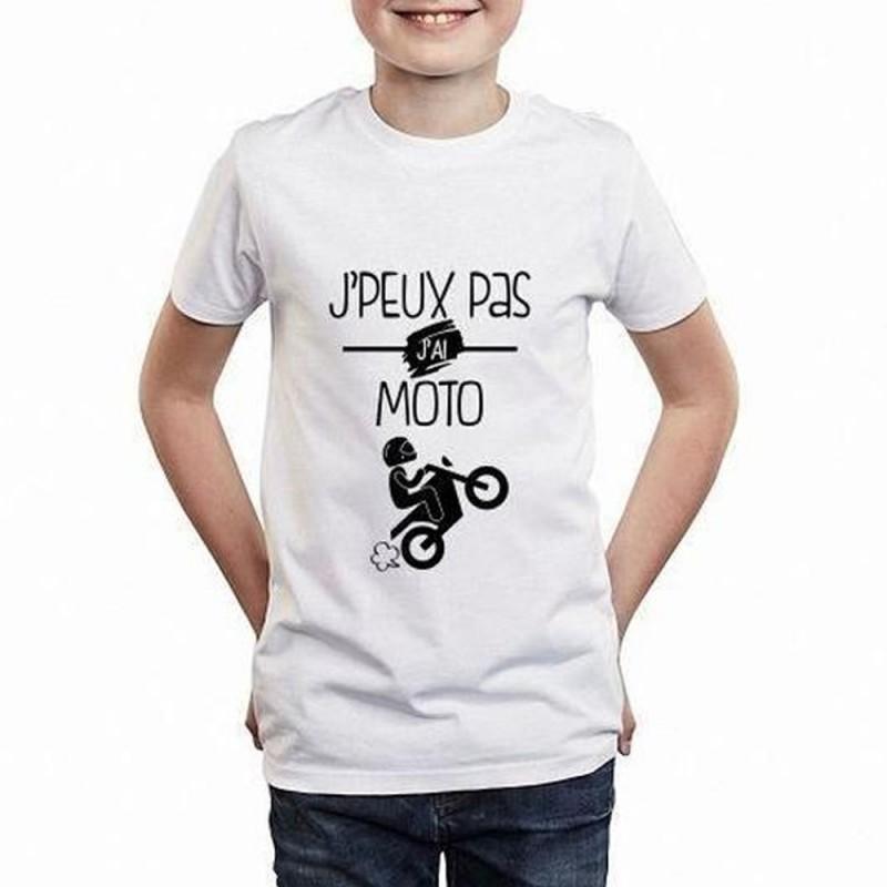 T-shirt Je peux pas j'ai Moto - Cadeau enfant