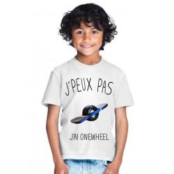 T-shirt Je peux pas j'ai one wheel - Cadeau enfant fille et garçon