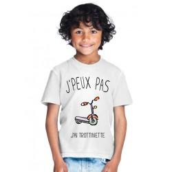 T-shirt Je peux pas j'ai trottinette - Cadeau enfant fille et garçon