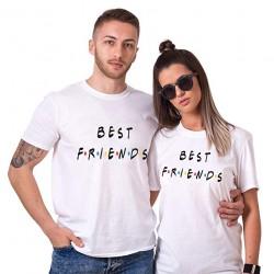 T-Shirt Best Friends pour femme homme Saint-Valentin Cadeau Anniversaire