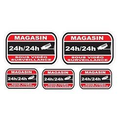 Sticker dissuasifs pour alarme et video surveillance - Magasin