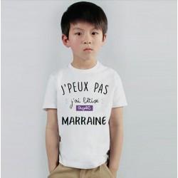 T-shirt Je peux pas j'ai betise avec marraine / Tata - Cadeau enfant