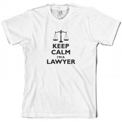 T-shirt Keep calm i'm a lawyer - cadeau homme