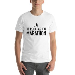 T-shirt j'peux pas j'ai marathon - cadeau Humour homme