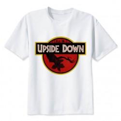 t-shirt Upside down Stranger Things – Jurassik Park pour enfant