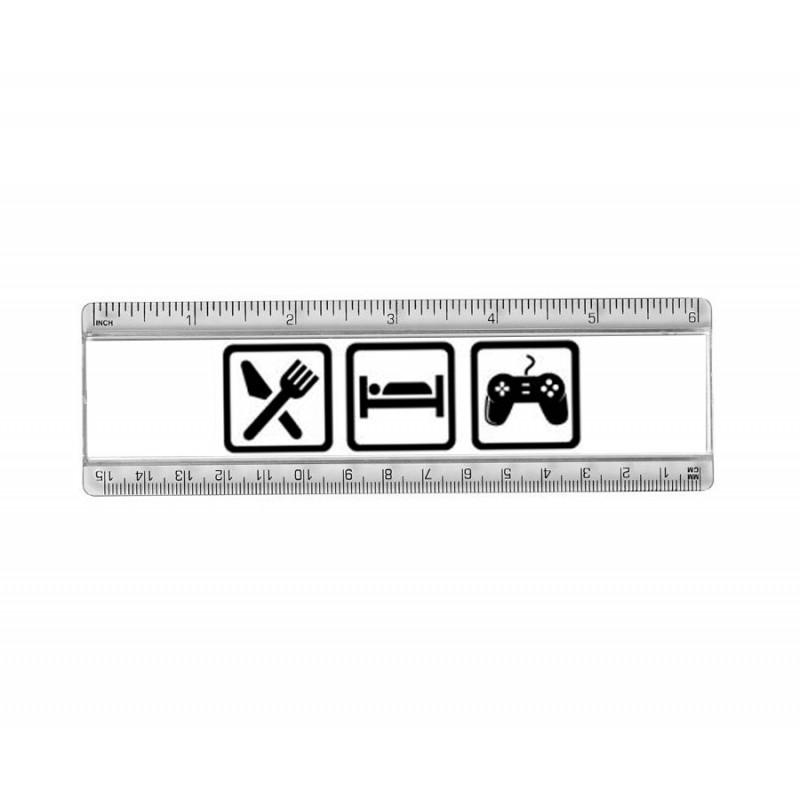 Règle du Gamer 15cm - Mange Dort et Joue