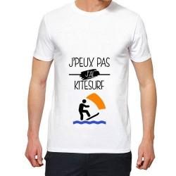 T-shirt j'peux pas j'ai kitsurf- cadeau voile homme