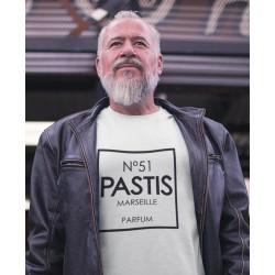 T-shirt numéro 51 pastis Marseille parfum - homme cadeau