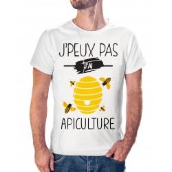 T-shirt j'peux pas j'ai apiculture en couleur - cadeau homme Abeille